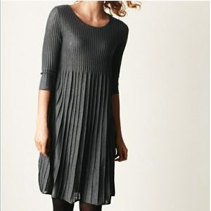 Eileen Fisher   3/4 Sleeve Knit Wool Ribbed Dress